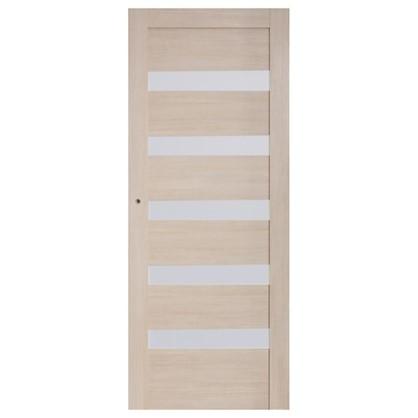 Полотно дверное остеклённое Ницца 80x200 см ПВХ цвет кремовый с фурнитурой