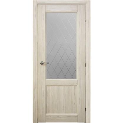 Полотно дверное остеклённое Пино 90x200 см CPL с фурнитурой цена