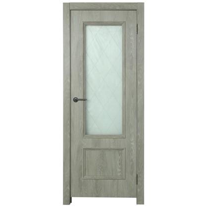 Полотно дверное остеклённое Престиж 200х70 см цвет дуб цена