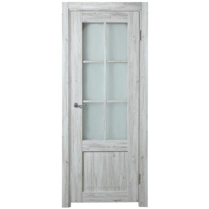 Полотно дверное остеклённое Рустик 200х60 см цвет северная сосна цена