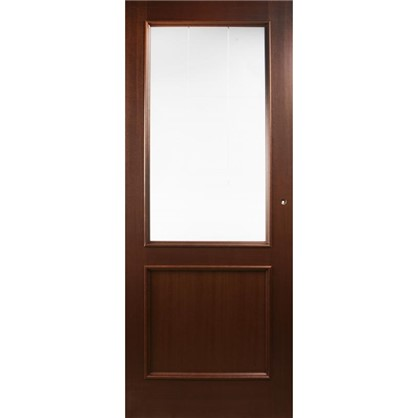 Полотно дверное остеклённое шпонированное Этерно 200x70 см цвет итальянский орех цена