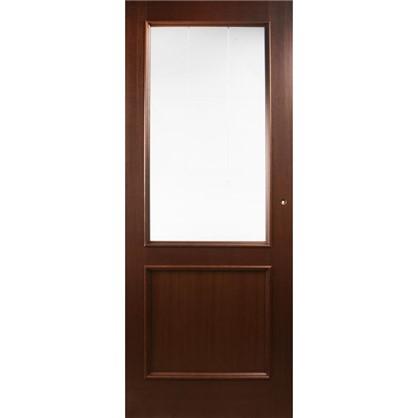 Полотно дверное остеклённое шпонированное Этерно 200x90 см цвет итальянский орех цена