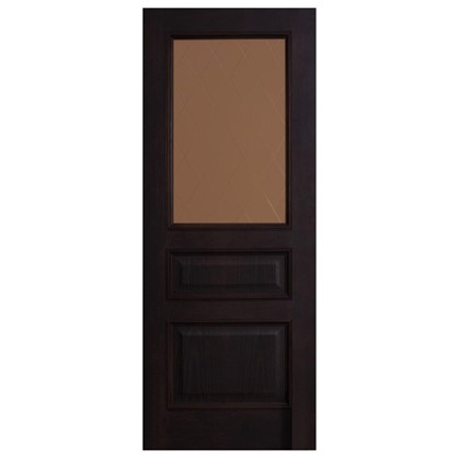 Полотно дверное остеклённое шпонированное Вельми 200х60 см цвет венге цена