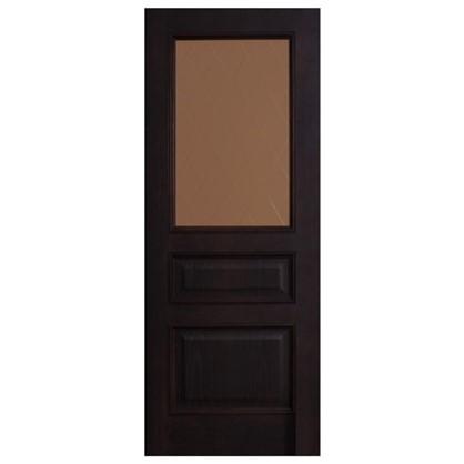 Полотно дверное остеклённое шпонированное Вельми 200х70 см цвет венге