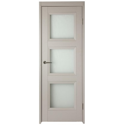 Полотно дверное остеклённое Трилло 200х90 см цвет ясень цена