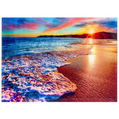 Постер на стекле 47х64 см Море в закате цена