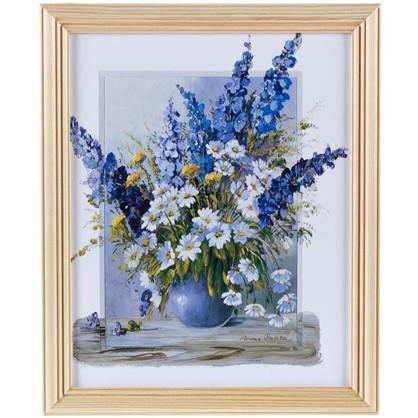 Постер в раме 20х25 см Цветы в вазе