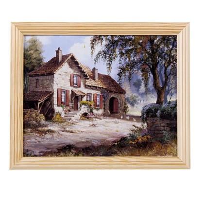 Постер в раме 20х25 см Осенний пейзаж цена