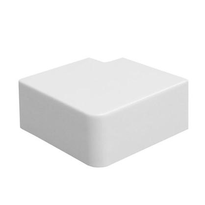 Поворот 90 градусов 40/25 мм цвет белый 4 шт. цена