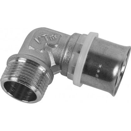 Пресс-угольник наружная резьба 26х3/4 мм никелированная латунь цена