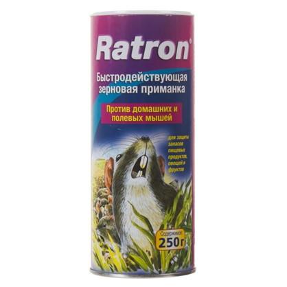Приманка для грызунов и полевых мышей Ratron зерновая 250 г/250 кв.м цена