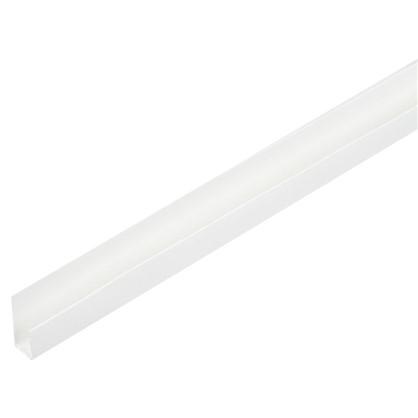 Профиль ПВХ стартовый/финишный Т8/10 мм 3 м цвет белый цена