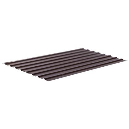 Профнастил С20 1.14x2 м с полиэстеровым покрытием 035 мм цвет коричневый цена
