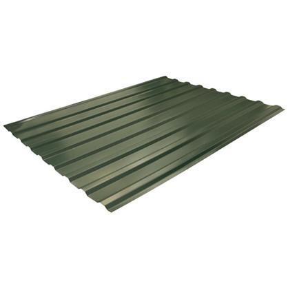 Профнастил С20 1.14x2 м с полиэстеровым покрытием 035 мм цвет зелёный цена