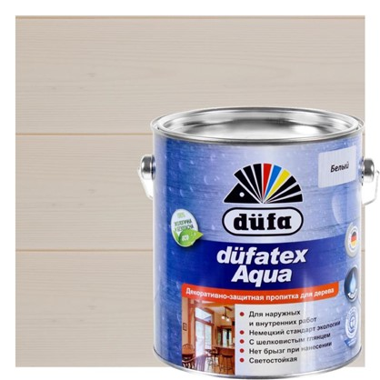 Пропитка для дерева водная белая Dufatex aqua 2.5 л цена