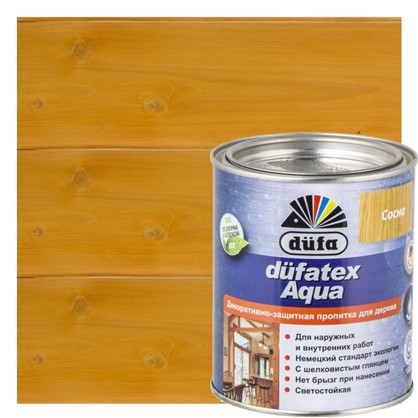Пропитка для дерева водная цвета сосна Dufatex aqua 0.75 л