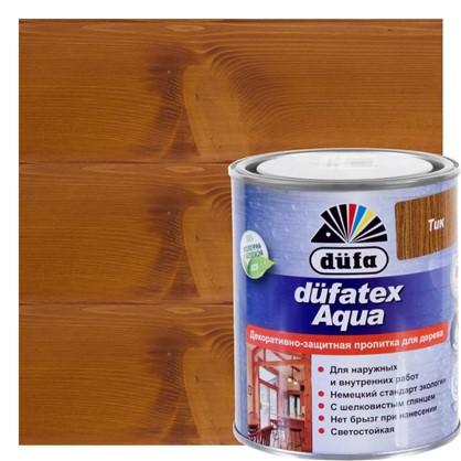 Пропитка для дерева водная цвета тик Dufatex aqua 0.75 л