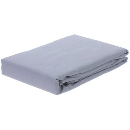 Простыня двуспальная PEARL BLUE сатин 210х220 см цена