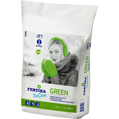 Противогололёдное средство Фертика Ice Care Green 20 кг цена
