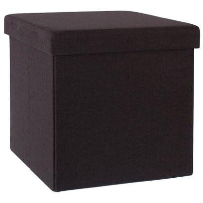 Пуф складной с отделением для хранения 38x38x38 см цвет коричневый цена