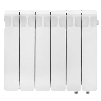 Биметаллический радиатор Rifar Monolit 350 6 секций нижнее правое подключение