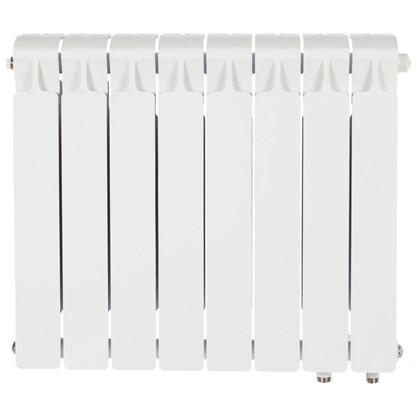 Биметаллический радиатор Rifar Monolit 500 8 секций нижнее правое подключение