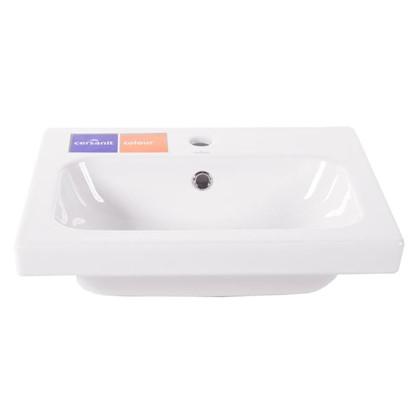 Раковина для ванной Colour керамика 50 см цвет белый цена