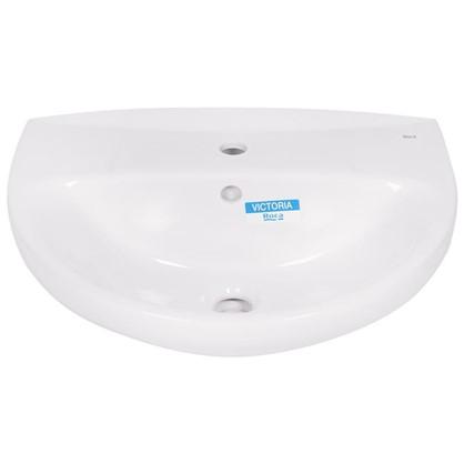 Раковина для ванной Roca Виктория фарфор 46 см цвет белый цена