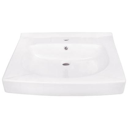 Раковина для ванной Santek Пилот на стиральную машину керамическая 60 см цвет белый цена
