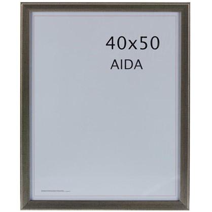 Рамка Aida 40x50 см цвет серебро с патиной