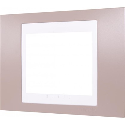 Рамка для розеток и выключателей 1 пост цвет коричневый/белый