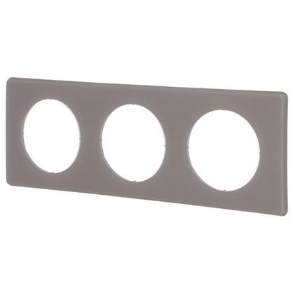 Рамка для розеток и выключателей Celiane 2 3 поста цвет перкаль грэй