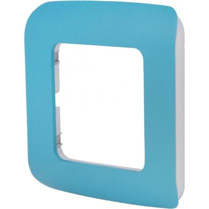 Рамка для розеток и выключателей Cosy 1 пост цвет темная бирюза