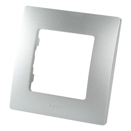 Рамка для розеток и выключателей Etika 1 пост цвет алюминий цена
