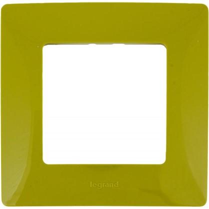 Рамка для розеток и выключателей Etika 1 пост цвет зеленый папоротник