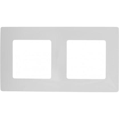 Рамка для розеток и выключателей Etika 2 поста цвет белый