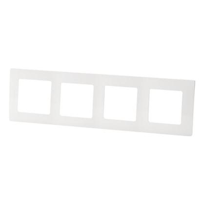 Рамка для розеток и выключателей Etika 4 поста цвет белый цена