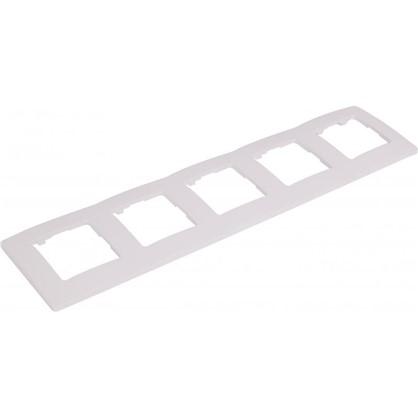 Рамка для розеток и выключателей Etika 5 постов цвет белый цена