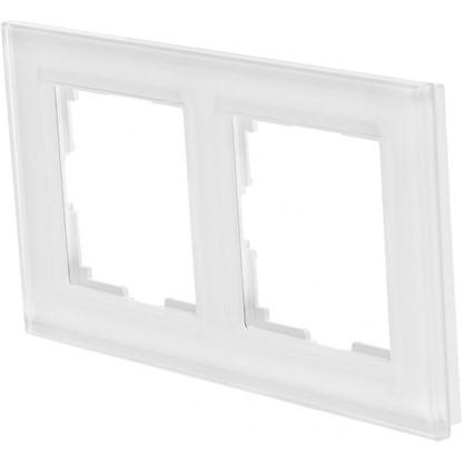 Рамка для розеток и выключателей Favorit 2 поста цвет белый цена