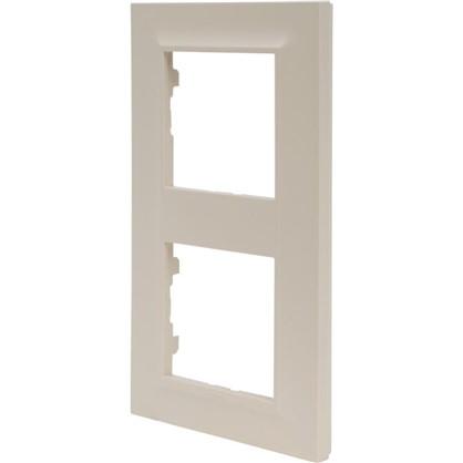 Рамка для розеток и выключателей Legrand Structura 2 поста цвет слоновая кость цена