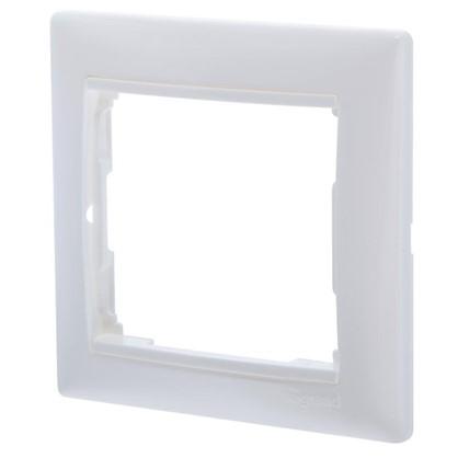 Рамка для розеток и выключателей Valena 1 пост цвет белый