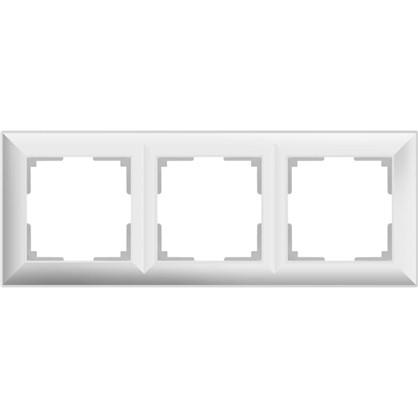 Рамка Fiore 3 поста цвет белый