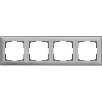 Рамка Fiore 4 поста цвет серебряный цена