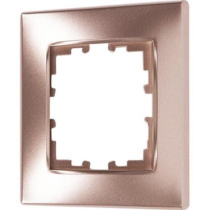 Рамка сферическая для розеток и выключателей Виктория 1 пост цвет матовая бронза
