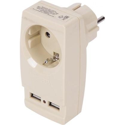 Разветвитель SP-1e USB цвет бежевый