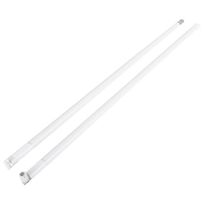 Рейлинг продольный Boyard MB00081 450 мм металл/пластик цвет белый цена