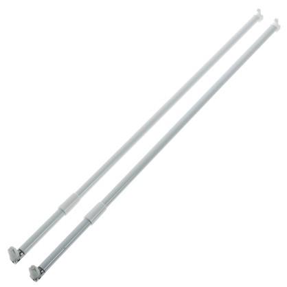Рейлинг продольный Boyard MB00081 500 мм металл/пластик цвет белый цена