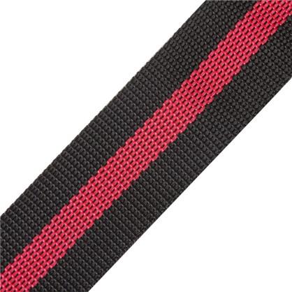 Ремень 40 мм 5 м полипропилен цвет черно-красный цена