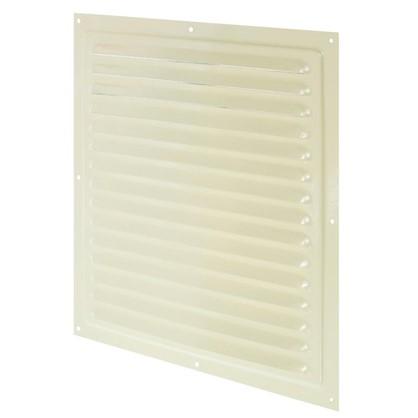 Решетка вентиляционная с сеткой Вентс МВМ 300 с 300х300 мм цвет бежевый
