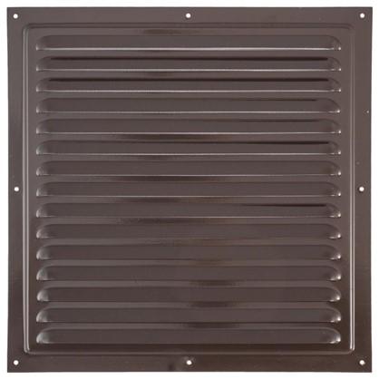 Решетка вентиляционная с сеткой Вентс МВМ 300 с 300х300 мм цвет коричневый